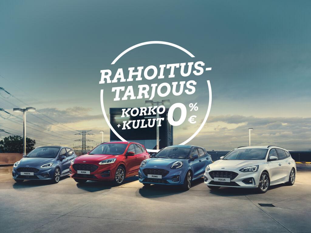 Uudet Ford-varastoautot korko 0 % ja kulut 0 €!