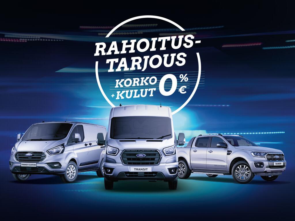 Uudet Ford-hyötyajoneuvot korko 0 % ja kulut 0 €!