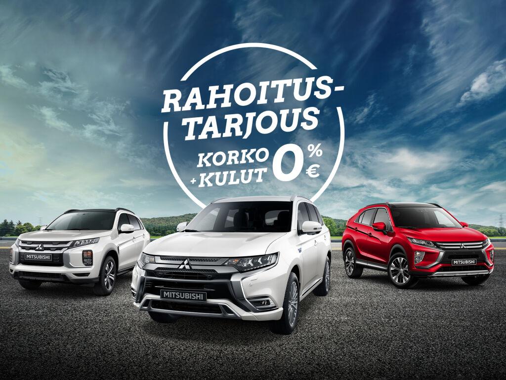 Uudet Mitsubishi-varastoautot korko 0 % ja kulut 0 €!